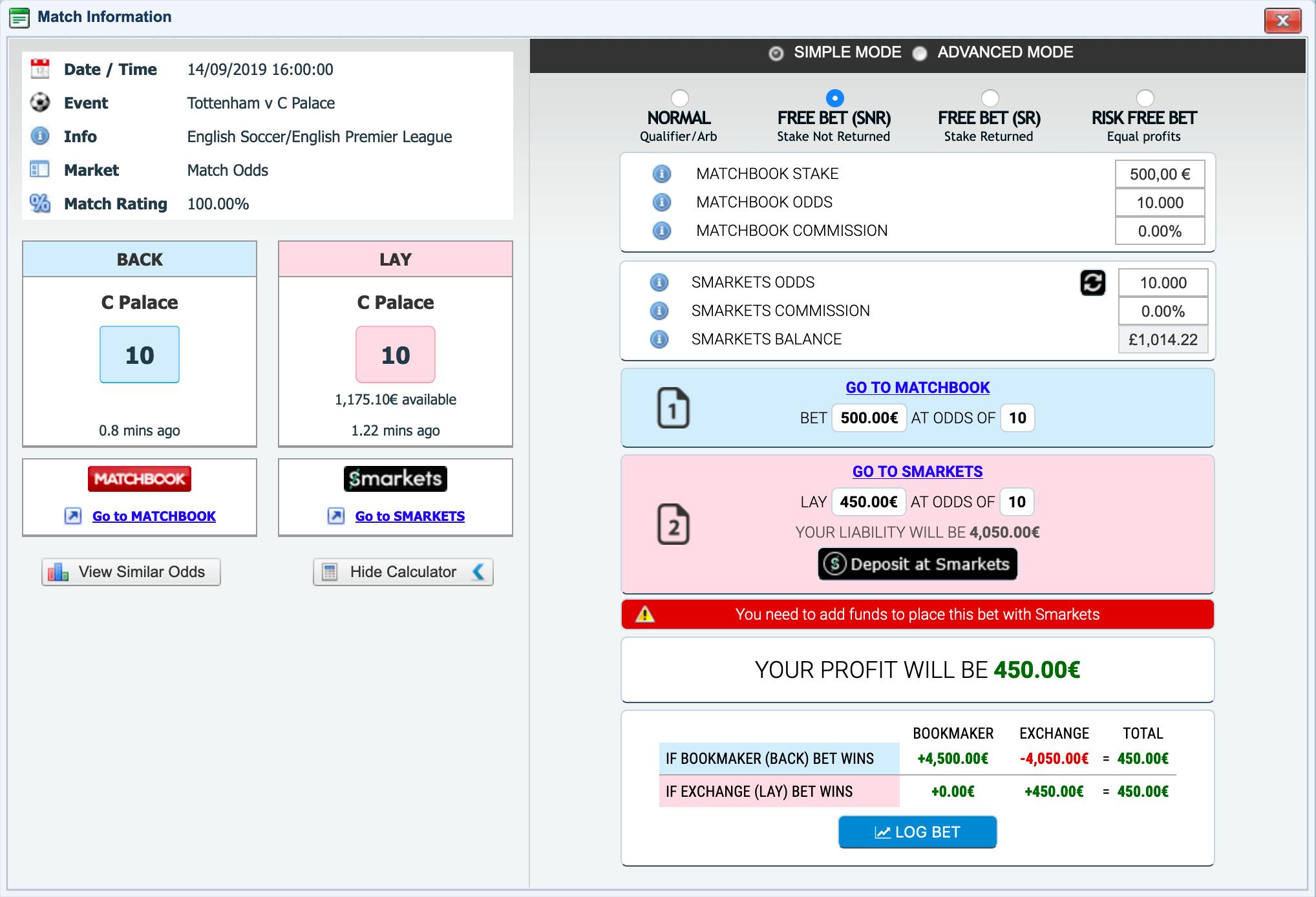 OddsmonkeycalcSNRHigh odds