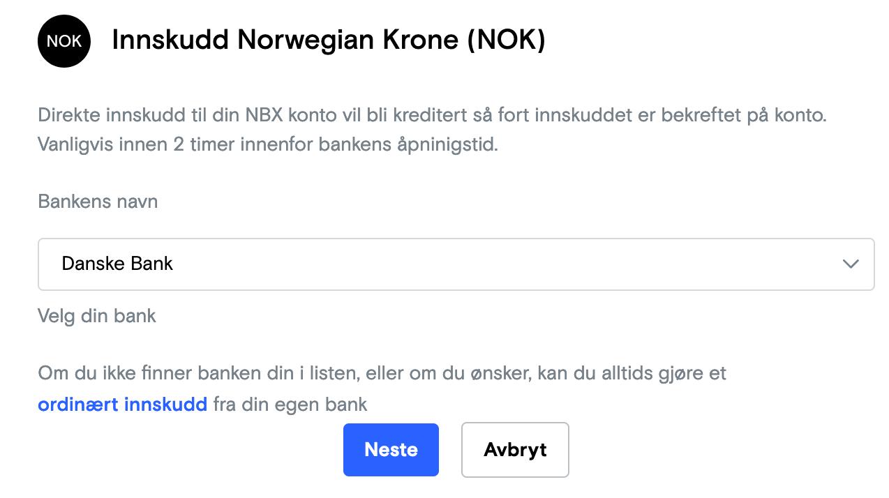NBX Innskudd med Danske Bank Neonomics