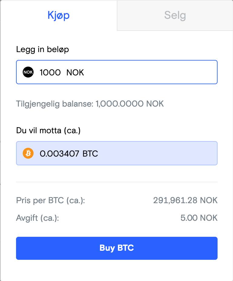 NBX kjop av BTC enkelt